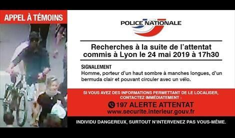 Imagen del sospechoso distribuida por la Policía Francesa
