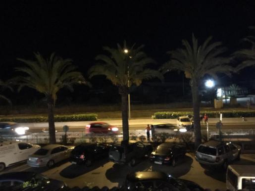 Imagen del accidente de tráfico en la carretera de Sant Antoni.