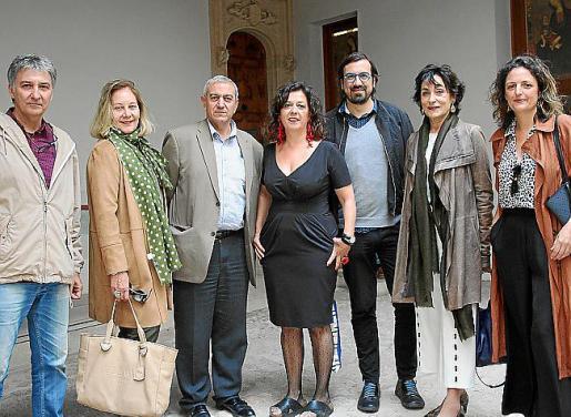 Jaume Gual, Águeda Ropero, Pere Ollers, Mui Morey, Sebastià Mascaró, Neus Cortés y Catalina Mas.