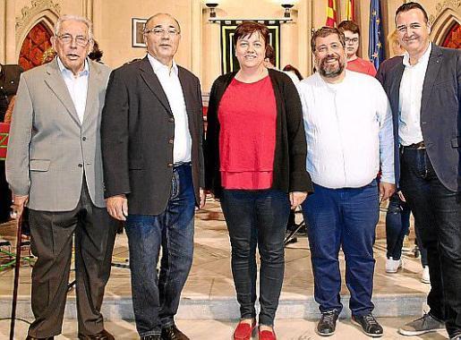 Rafael Perelló Paradelo, Josep Prohens, Susanna Moll, Félíx Aguiló y Francesc Dalmau.