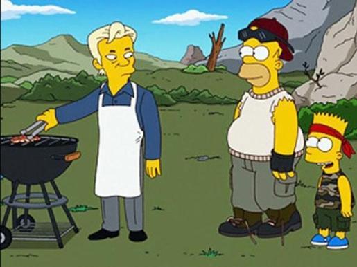 La familia de los Simpsons llegan a su capítulo número 500, en el que aparece Julian Assange, el fundador de Wikileaks.