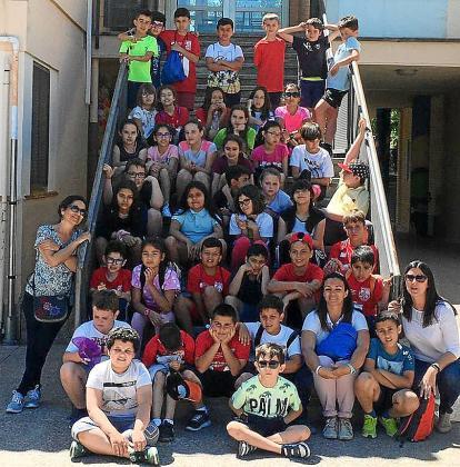 Escolares ibicencos en Ontinyent (Valencia).