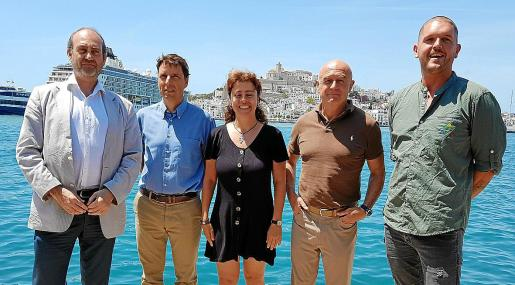 La presentación del primer foro marino de Ibiza tivo lugar ayer.
