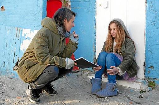 El rodaje del cortometraje 'Nuestra calle' de Clara Santaolaya.