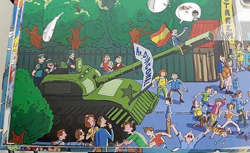 Los agentes de la Policía Nacional apuntan que los dibujos del cómic están llenos de mentiras, son injuriosos e incitan al odio.