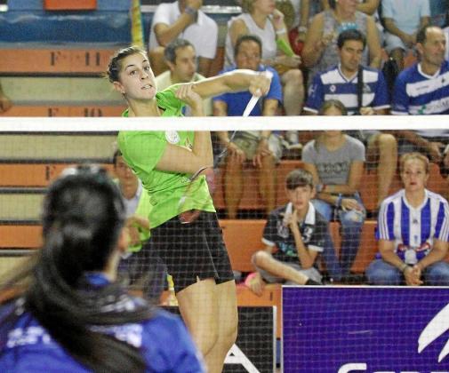 Carolina Marín, en el día de su único partido con el Pitiús.