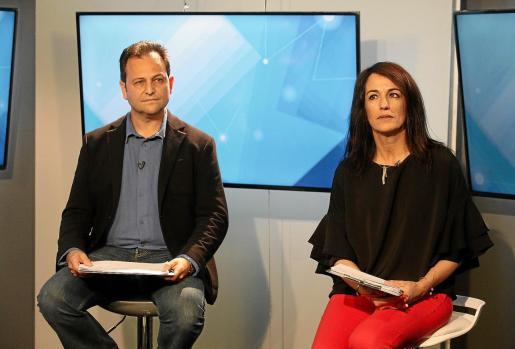 Llorenç Córdoba (Sa Unió) y Ana Juan (PSOE), en el debate electoral que organizó la TEF en la pasada campaña.