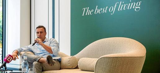 Abel Matutes, en la sala de prensa del Hotel Bless Ibiza.
