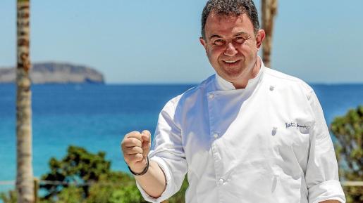 El cocinero Martín Berasategui, en Ibiza.