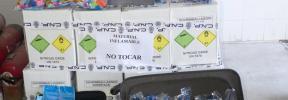 La Policía Nacional detiene en Ibiza a tres personas con 500 bombonas de gas de la risa