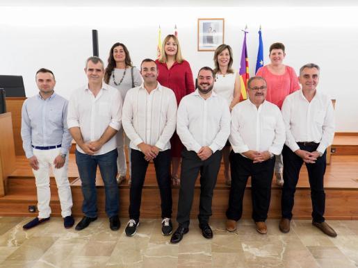 Imagen del equipo de gobierno que liderará estos cuatro años Antoni Marí.