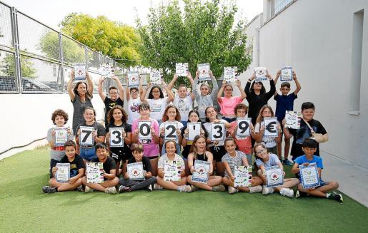 Imágenes de los alumnos de la escuela responsables del proyecto.