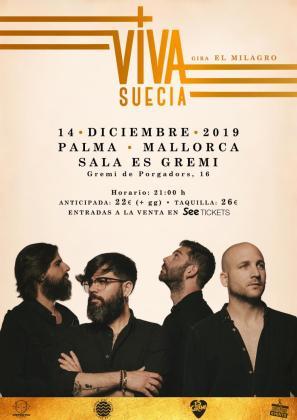 Viva Suecia regresa a Mallorca para ofrecer un concierto en Es Gremi.