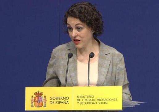 La ministra de Trabajo, Migraciones y Seguridad Social, Magdalena Valerio.