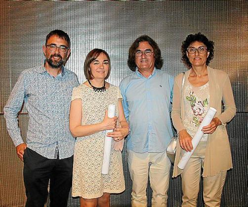 Tomeu Ripoll, Maria Miquel, Miquel Socies y Francisca Fuster.