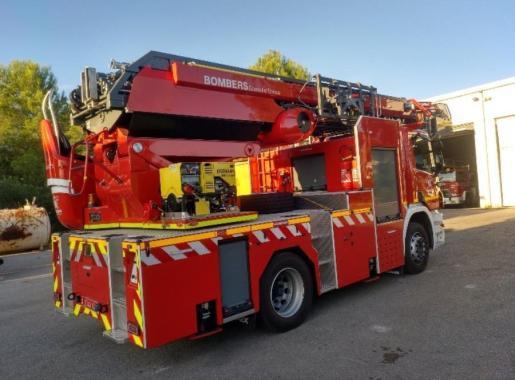 Un vehículo de los bomberos de Ibiza.