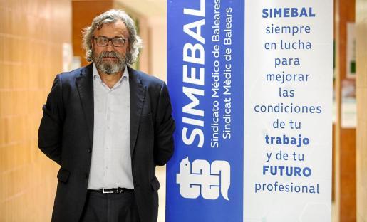 Miguel Lázaro, el miércoles pasado, poco antes de la asamblea del sindicato.
