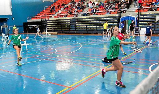 Una imagen del Campeonato de Balears de bádminton del año pasado en sa Blanca Dona.
