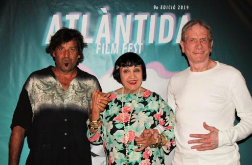 Xavi Herrero, Christine Splenger y Philippe Warner el miércoles por la noche en Atlantida Film Fest.