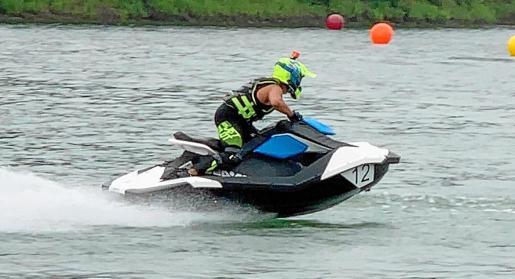 'Peke' Palau durante la primera prueba de la Triple Corona.