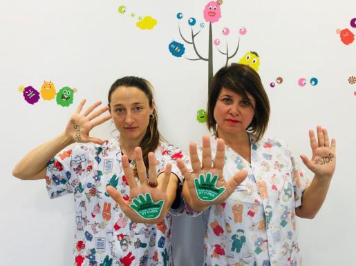 Imagen del sindicato de enfermería SATSE con motivo de una campaña contra los ataques a profesionales de la sanidad.