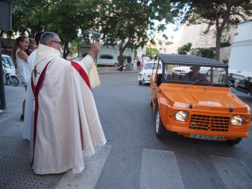 Uno de los actos clásicos de la celebración del dia de Sant Cristòfol
