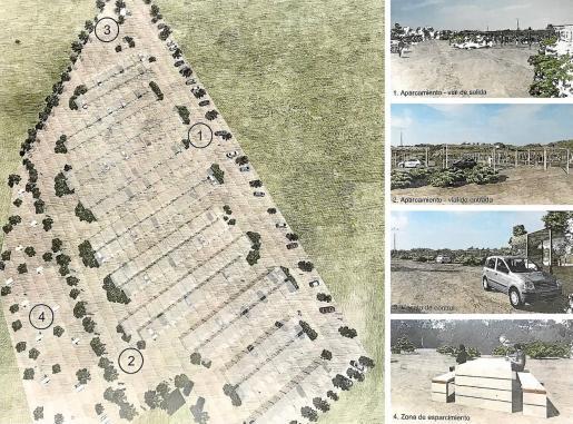 Uno de los planos del proyecto redactado por la empresa Sertiic para el aparcamiento en Platges de Comte.