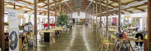 Imagen de archivo del coworking de la Fàbrica Ramis de Inca.