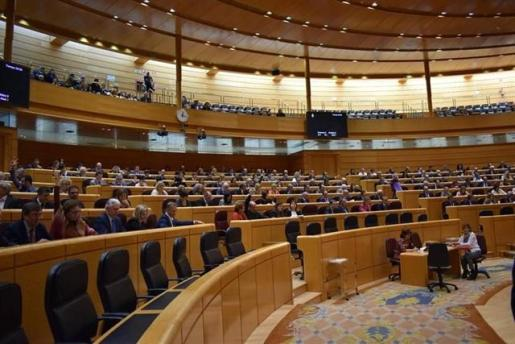 Imagen de un Pleno del Senado en la pasada legislatura.