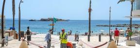 Las obras del paseo de ses Figueretes molestan a turistas y residentes