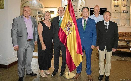 Ignasi Martí, Joana Prohens, Rafael Xamena, Francisco Matas, Enrique Calvo y Miguel Palou de Comasema.