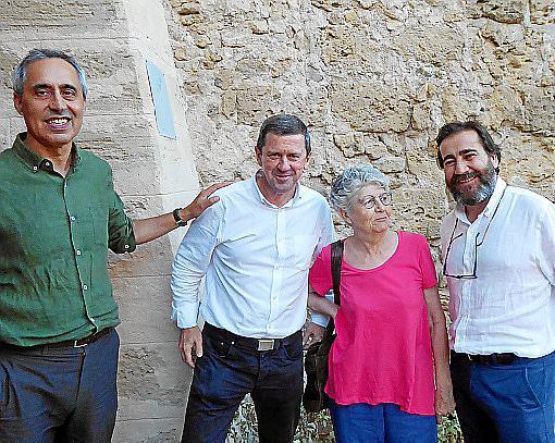 Joan Riera, José María Oliver Ferrer, Catalina Cantarellas y Nacho Salas.
