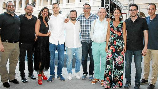 Juan Gálvez, Paco Blaya, Irene Vidal, Toni Vidal Fiol, Carlos Hellín, Frank Brunot, Antoni Vidal, Pepa Vidal, Toni Rigo y David Monge.