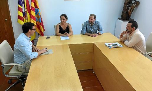 Desde la izquierda, Rafael González, Alejandra Ferrer, Miquel Mir y Antonio Jesús Sanz.