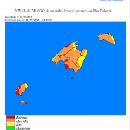 Ibiza tendrá zonas en alerta roja por riesgo de incendios