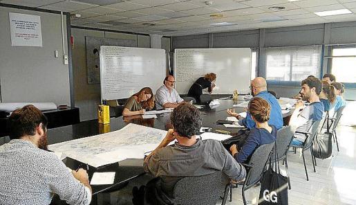Imagen de archivo de una reunión de arquitectos.