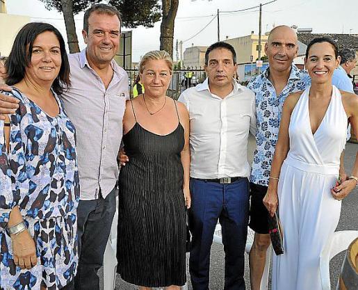 Maria Canyellas, Rafel Ramis, Marga Mesquida, Matias Rosselló, Pep Sbert y Fanny Bestard.