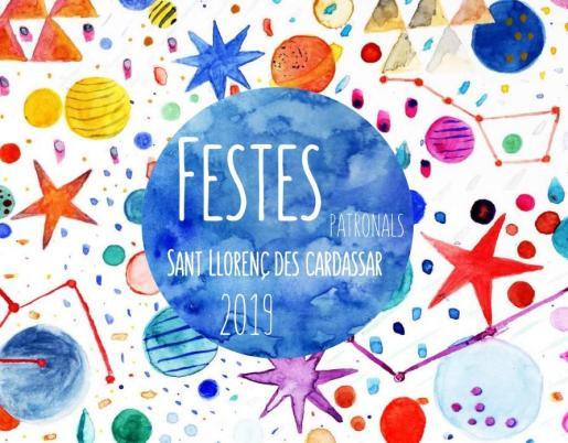 Cartel de las Fiestas patronales de Sant Llorenç des Cardassar.
