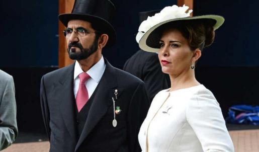 La princesa Haya junto al jeque de Dubái, Mohammed Al Maktoum.