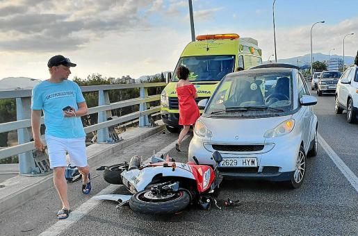 El accidente de tráfico se produjo el martes pasado en la vía de cintura de Palma.