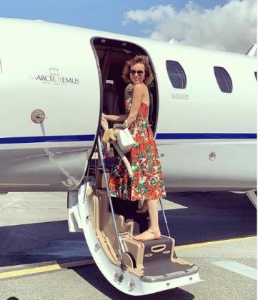 Eva Herzigova está disfrutando de unos días de sol en Mallorca.