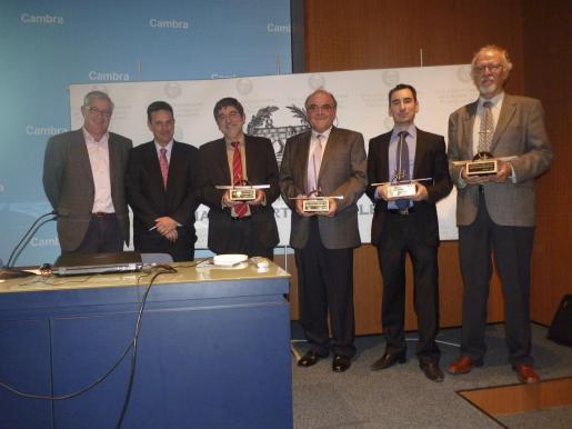 José Luis Roses, Carlos Garau, Gabriel Vicenç, Bartomeu Reus, Daniel Montesinos y Miguel Àngel Rodríguez.