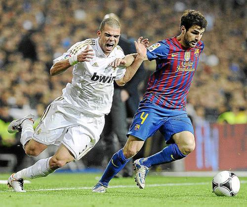 Imagen de un encuentro entre el Real Madrid y el F.C.Barcelona.