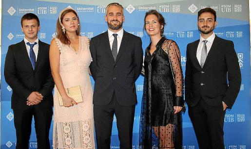 Sergio Blaga, Cinthia Arévalo, Germán Álvarez de Sotomayor, Cati Neus Bauzá y Juan Hermosilla.