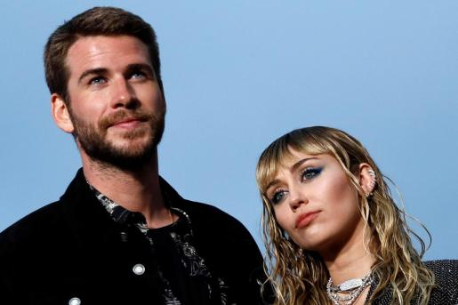 Miley Cyrus y Liam Hemsworth.