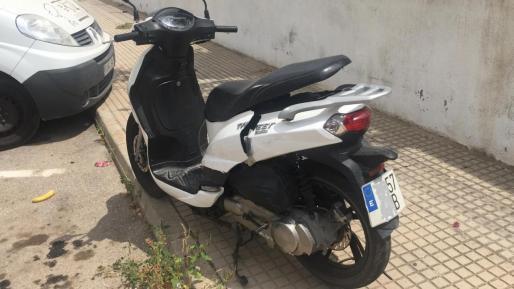 Una de las motos robadas.