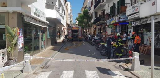 El suceso obligó a cortar las calles Sant Antoni y Progreso por seguridad.