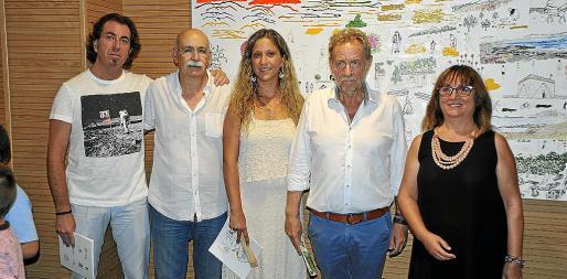 Pere Joan Martorell, Vicenç Palmer, Alicia Duran, Mateu Puigròs y Jerònia Mesquida.