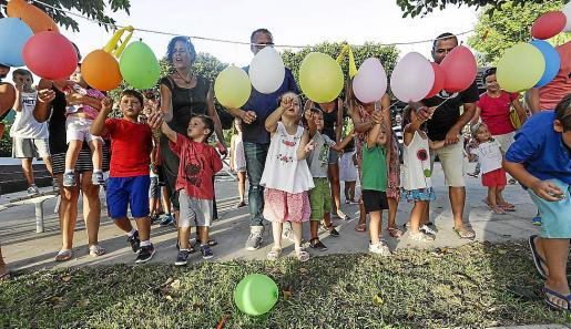 Los niños del pueblo siempre ocupan un lugar destacado en el programa de fiestas.
