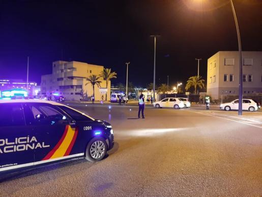 Imagen de archivo de un control de alcoholemia en Ibiza